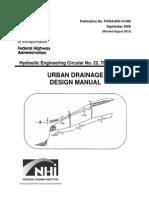Urban Drainage Design Manual