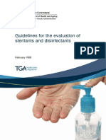 Disinfectants Evaluation Guidelines
