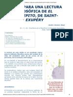 Recursos Didácticos_ Claves Para Una Lectura Filosófica de El Principito, De Saint-Exupéry