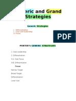 Grand and Generic Strategies 2