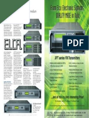 Elca FM Transmitters | Technology | Business