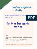 Cap 6 - Variáveis Aleatórias Contínuas