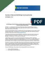 Secretary of State and AAA Michigan Launch Partnership