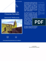 WALLERSTEIN IMMANUEL. La Historia de Las Ciencias Sociales