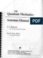 Sakurai Modern Quantum Mechanics Rev Ed Solutions Manual