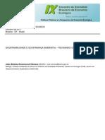 Governabilidade e Governança Ambiental - Revisitando Conceitos - Câmara
