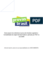Prova Objetiva Analista Legislativo Contabilidade Senado Federal 2009 Fgv