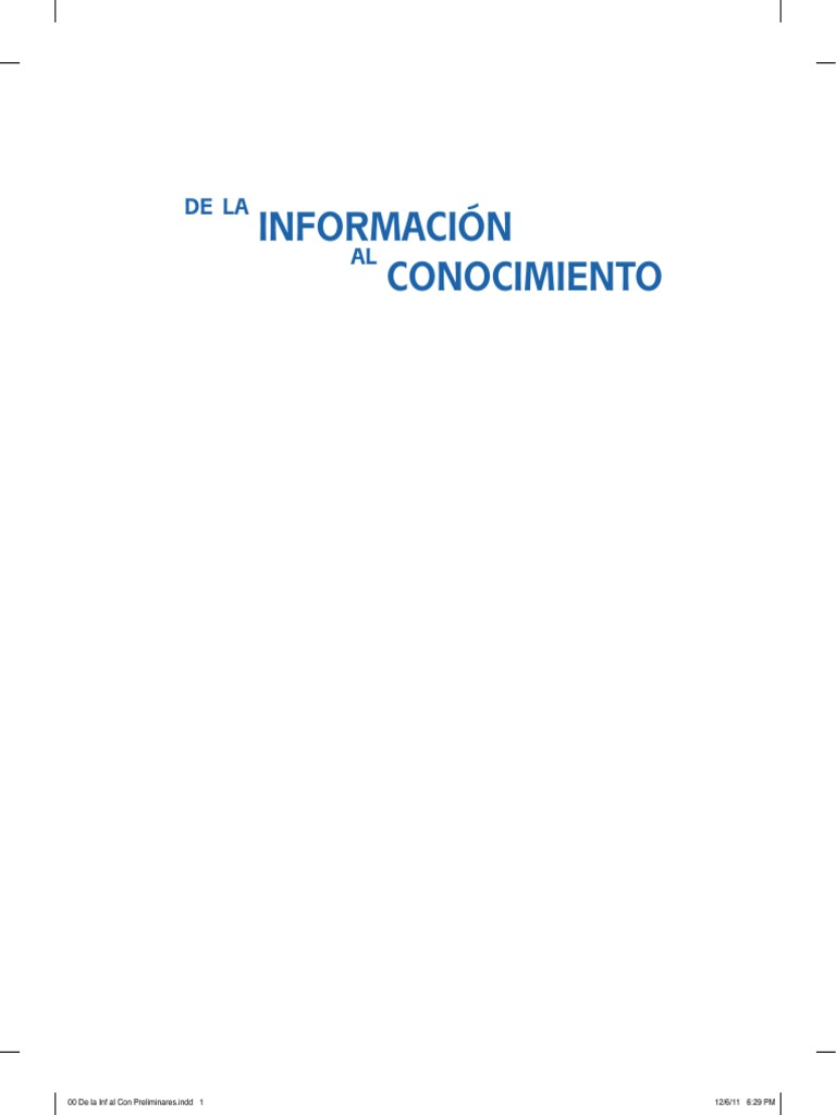 Informacion Conocimiento