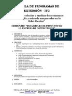 Seminario de Desarrollo de Producto - Vigente 2013