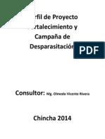 Perfil de Proyecto Fortalecimiento y Campaña de Desparasitación