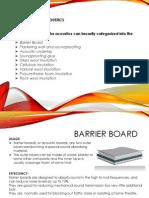 Acoustics Materials