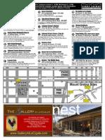 Lebanon First Friday art walk map - September 2014