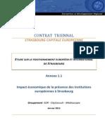Impact Économique de La Présence Institutions Européennes à Strasbourg--Janv 2011-TEXTE INTEGRAL