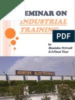 Seminar on Industrial Training