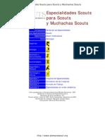 Especialidades Scout