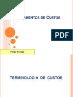 Fundamentos de Custos Terminologia