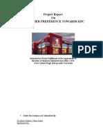 Consumer Prefrence Towards-Kfc