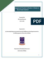 internship report on credit risk management pdf