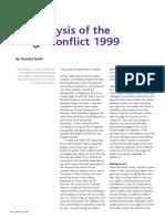 Analysis of Kargil Conflict