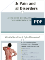 back pain and spinal disorders final
