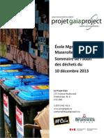 2014 01 30 Audit Déchets École Mgr Matthieu Mazerolle