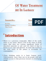 Analysis of Water Treatment