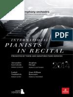 International Pianists in Recital 2014 SSO