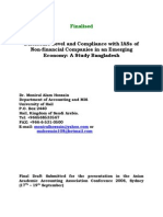 Disclosure Level and Compliance With IASs of Non-financial Companies in an Emerging Economy a Study Bangladesh
