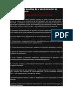 Fundamentos y Desafíos de La Administración de Recursos Humanos