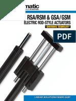 Tolomatic RSA-GSA Rod-Style Screw Drive Actuator Brochure