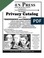New Privacy Catalog-Eden Press