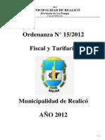 Ord. Fiscal y Tarifaria 2012