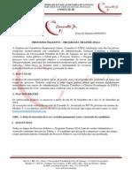 Edital Processo Trainee 2014.2
