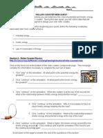 Rollercoaster Web Quest Worksheet