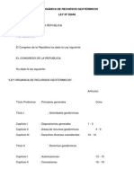 Ley Organica de Recursos Geotermicos