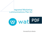 An Integrated Marketing Communications Plan for Watsi
