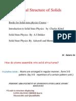 Crystal Structure Sem 5