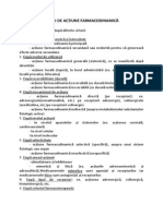 Tipuri de Acțiune Farmacodinamică