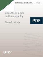 Influence of Etcs on Line Capacity Generic Study
