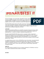 Comunicat de Presă Donaris Fest 2014