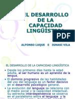 1 El Desarrollo de La Capacidad Lingüística