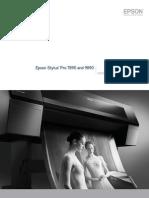 Epson Stylus Pro 7890 9890 Professional Photographic Product Brochure