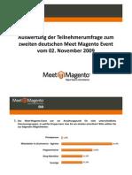 Umfrage-Auswertung Meet Magento #2.09