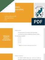 Números Primos, Factores y Exponentes MATC 103