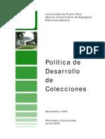 Politica Desarrollo Colecciones