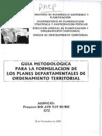 Guia Metodologia Para La Formulacion Dde Planes Municipales de Ordenamiento Territorial