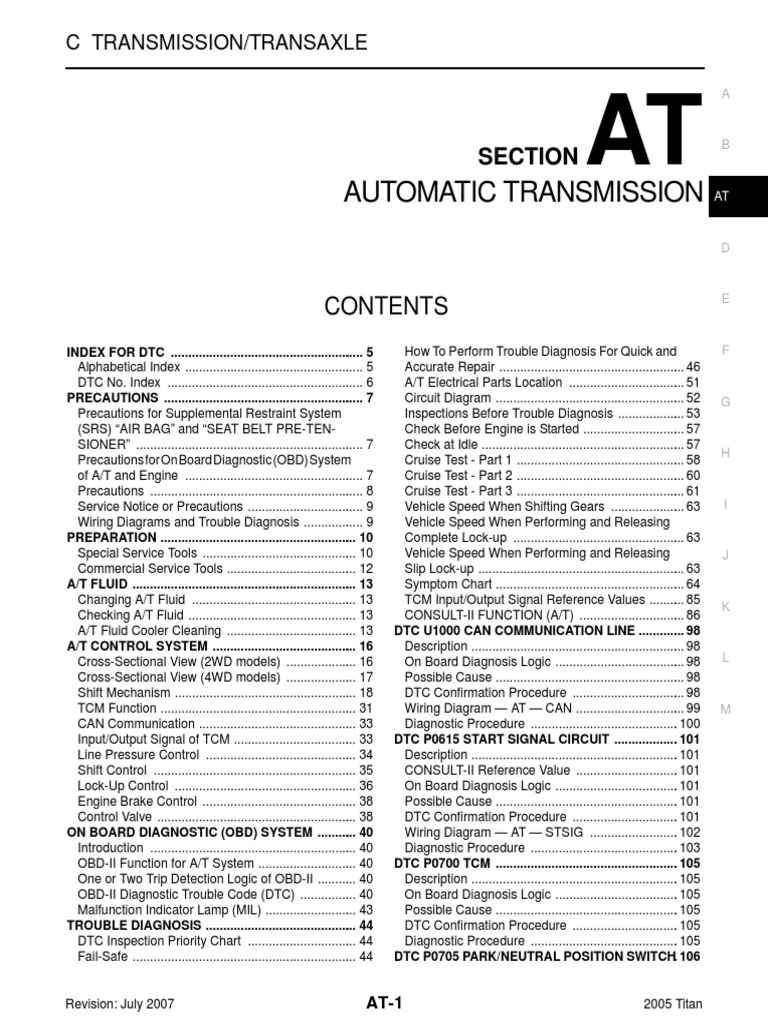 Automatic Transmission: Section