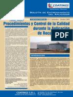 BOLETIN N° 9 - CONTROL DE CALIDAD EN LA APLICACION DE PINTURAS