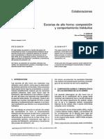 Escorias de Alto Horno, Composicion y Comportamiento Hidraulico