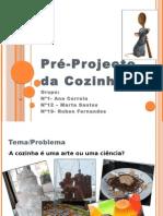 Pré-Projecto da Cozinha